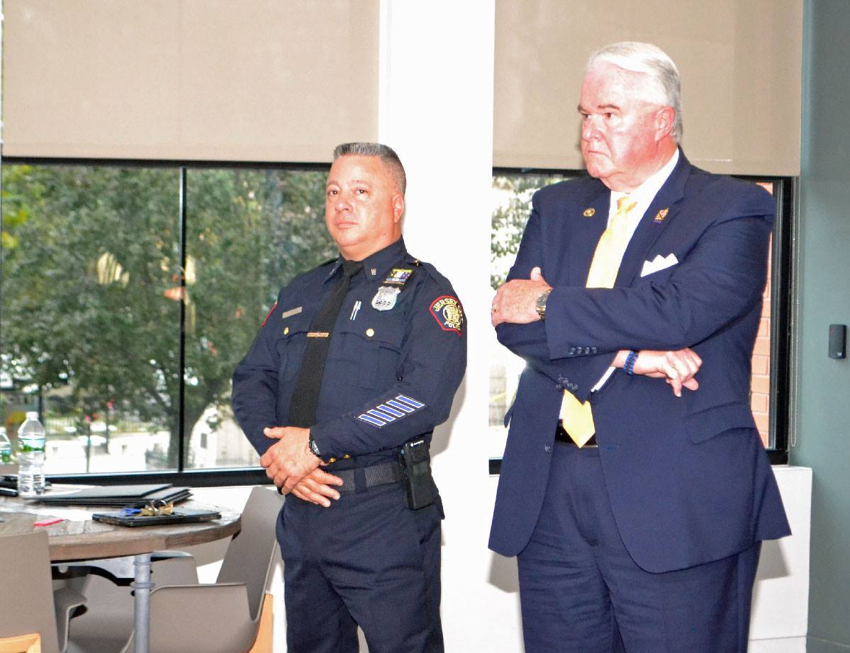 Jersey City OEM&HS Director Greg Kierce and JCPD Sgt Frank Scarpa at Resilient JC launch